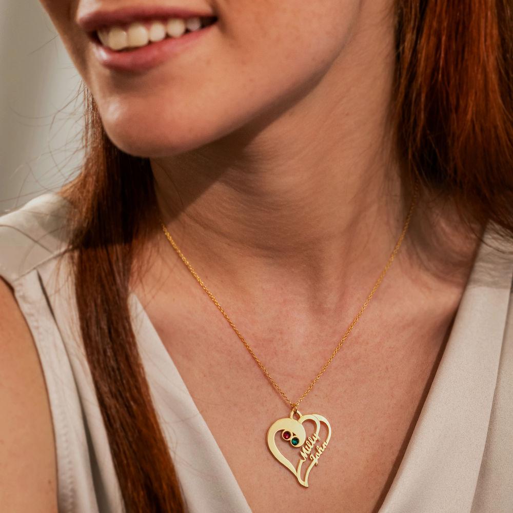 Två hjärtan för förevigat i ett med guldplätering - 1