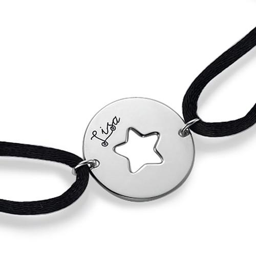 Utskuret Stjärn Armband i Sterling Silver - 1