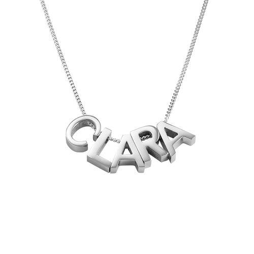 Personligt halsband med bokstäver för par