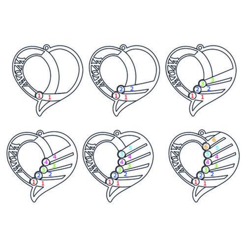Graverat månadsstenshalsband för mor - roseguldplätering - 5