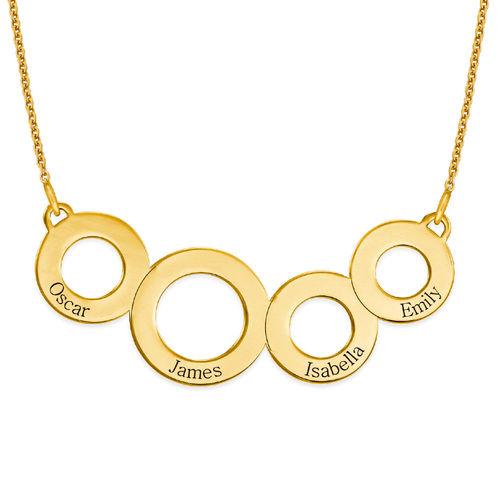 Graverat cirkelhalsband med guldplätering