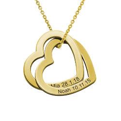 Halsband med sammanflätade hjärtan i Guld Vermeil product photo