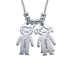 Mammasmycke med Barn-berlock i Sterling Silver och Diamant product photo