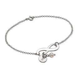 Infinity Armband med Bokstav i Silver product photo