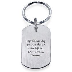 Graverad nyckelring med namnbricka i Rostfritt Stål product photo