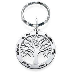 Personlig nyckelring med livets träd berlock i Sterling silver product photo