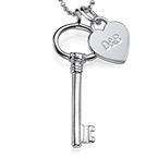 Sterling Silver halsband med nyckel och berlock