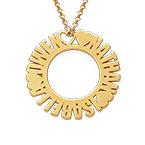 Cirkelhalsband med namn i guldplätering