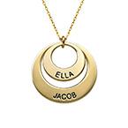 Smycke för mamma - Brickhalsband i 10k guld