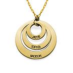 Smycke för mamma - Tre brickor i 10k guld