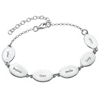 Mamma-armband med barnens namn - oval design