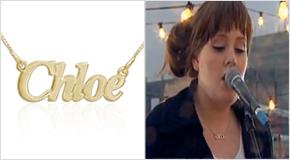 Adele med Personligt Litet 18K Guldpläterad Sterling Silver Namnhalsband