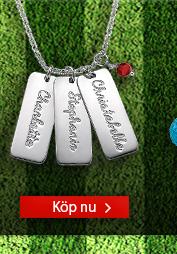 Personlig Namnbricks-Halsband med Swarovski
