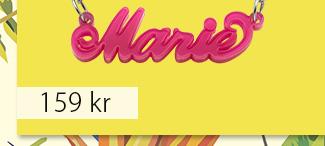 Klassiskt 'Carrie'-stil Namnhalsband i färg