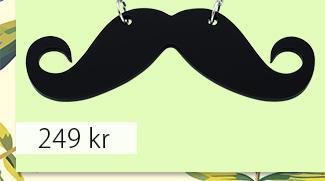 Halsband med mustasch