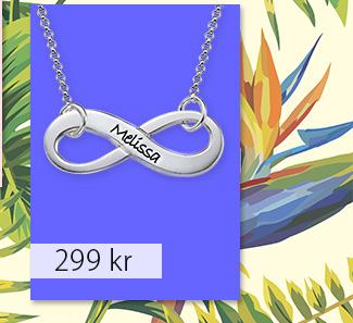 Graverat Oändlighets Halsband i Sterling Silver
