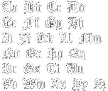 Gothic Font Style