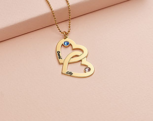 Vår smycke hjärta med namn