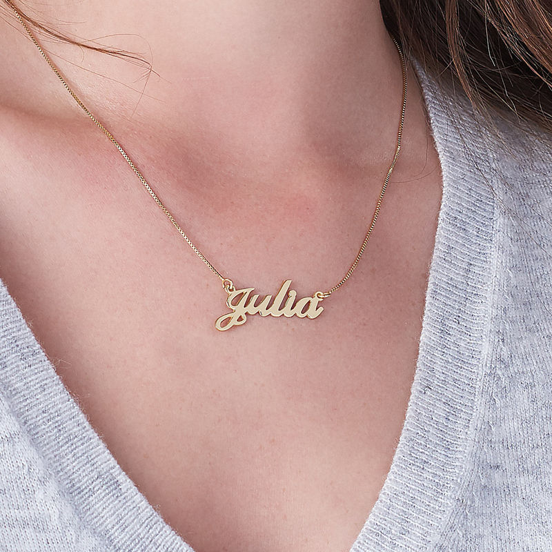 18ct Gold-Plated Silver Classic Name Necklace - 3