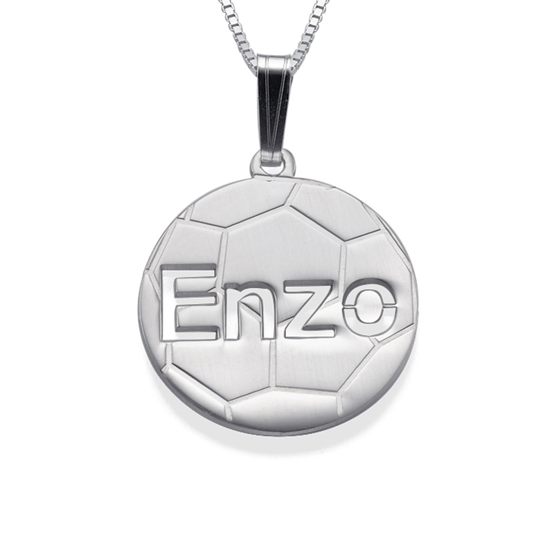 Sterling Silver Personlised Football Pendant