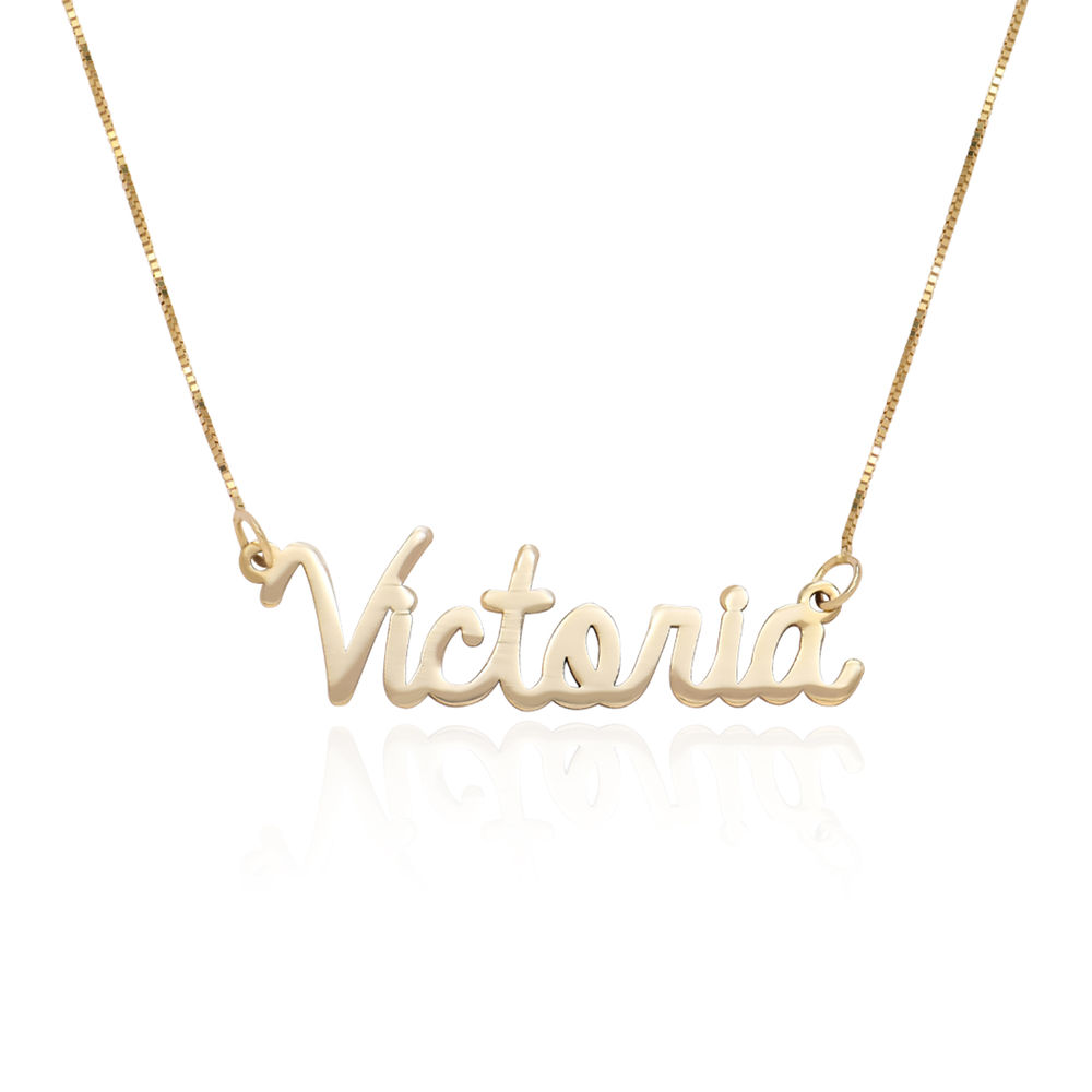 Personalised Cursive Name Necklace in 14ct Gold