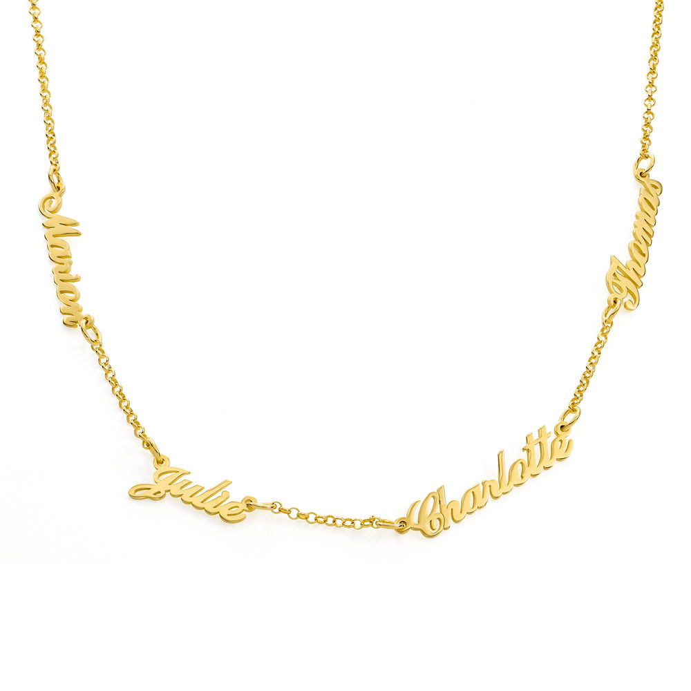 Multiple Name Necklace in Gold Plating
