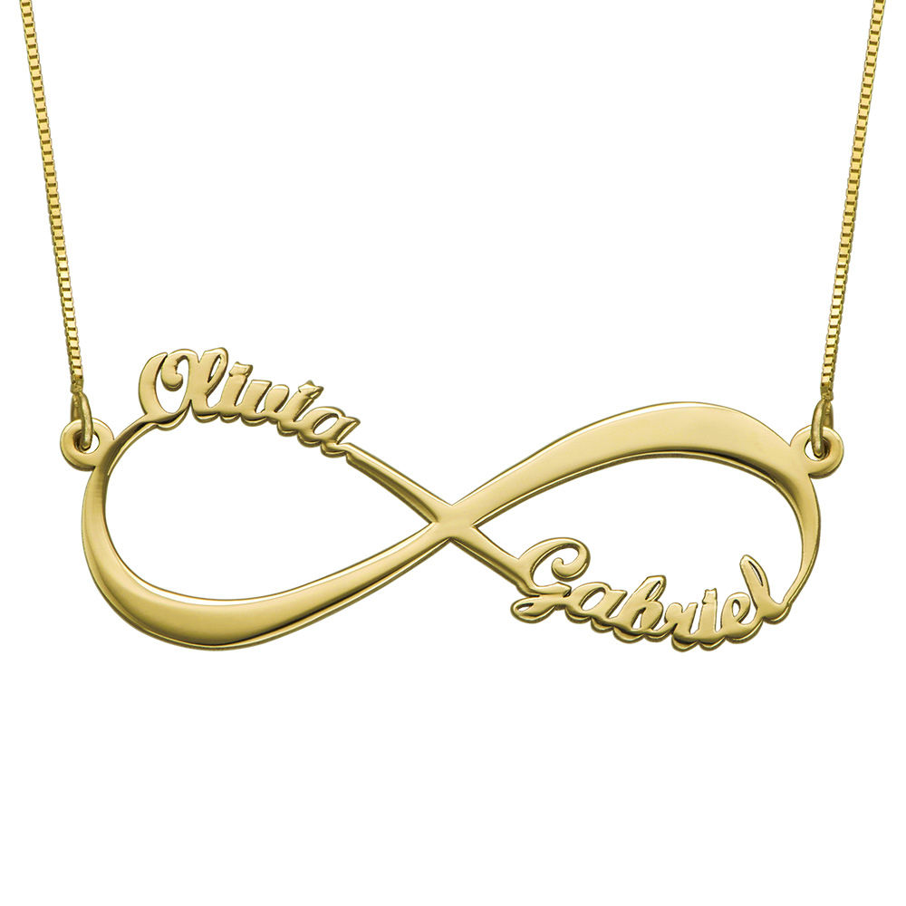 Infinity Name Necklace in 14ct Yellow Gold