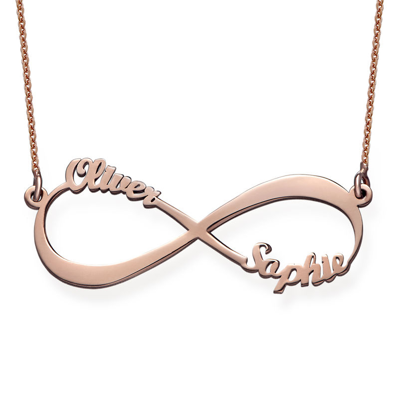 Infinity Name Necklace in Rose Gold Plating