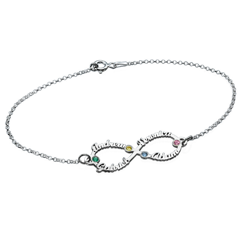 Infinity Bracelet with Names