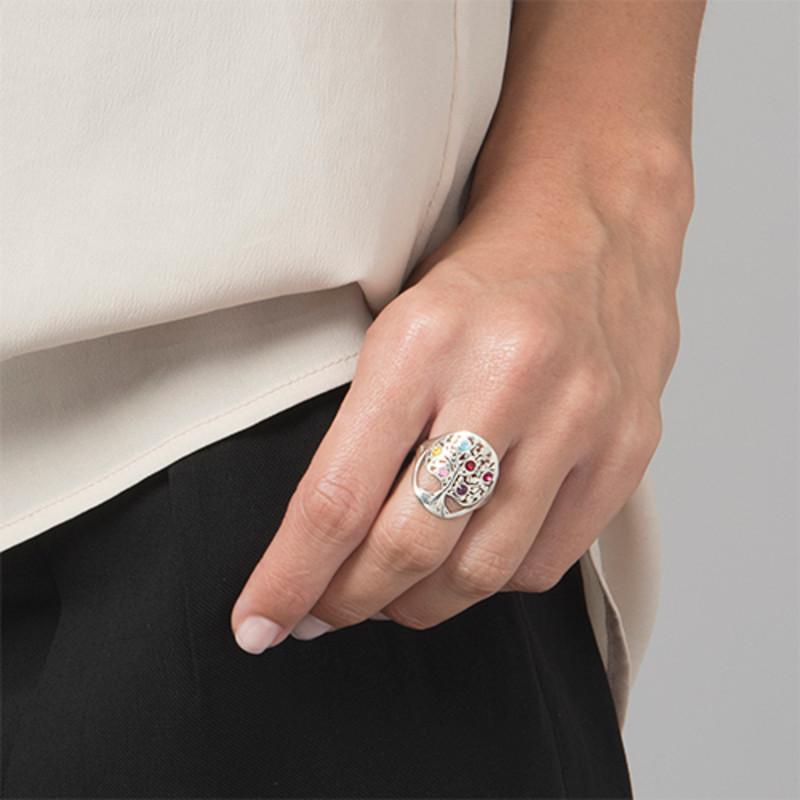 Family Tree Jewellery - Birthstone Ring - 1 - 2 - 3