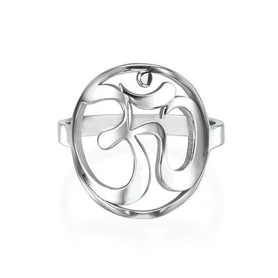 Sterling Silver Om Ring - 1