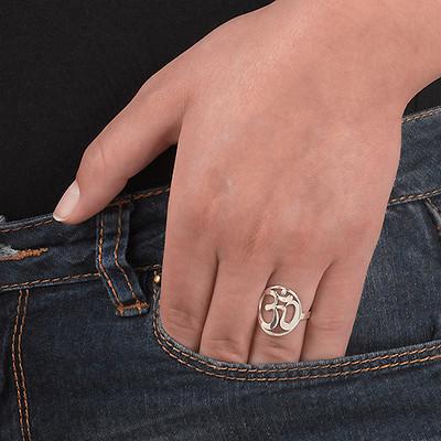 Sterling Silver Om Ring - 2