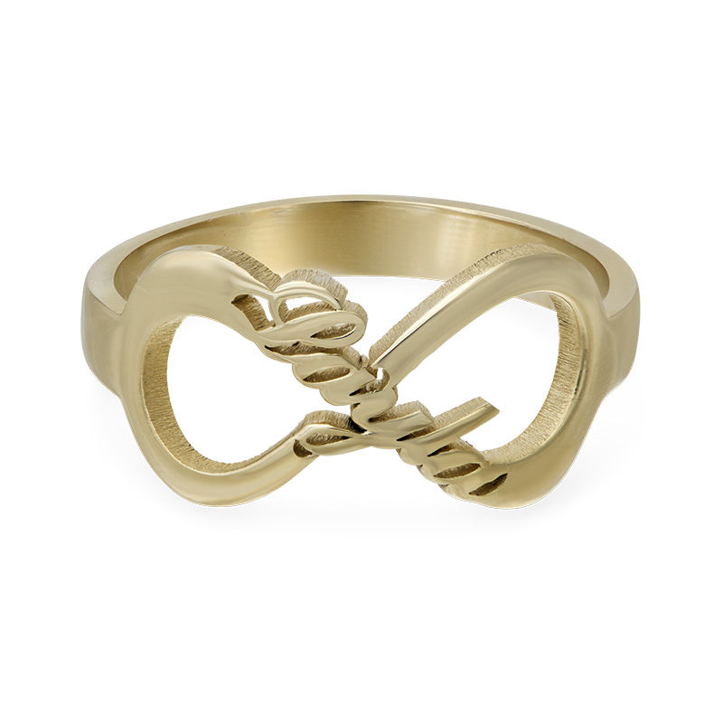 Infinity Name Ring with Gold Plating - 1