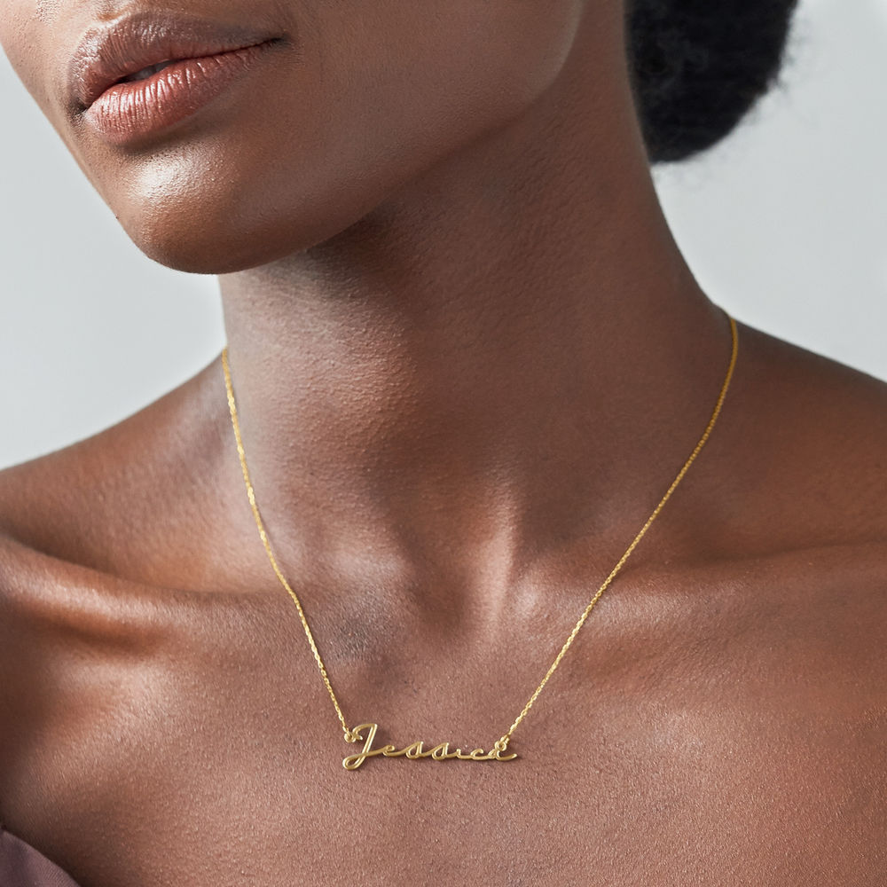 Signature Style Name Necklace - 10ct Gold - 2
