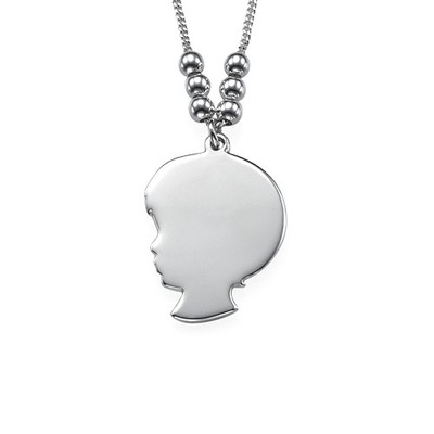 Silhouette Necklace in Sterling Silver