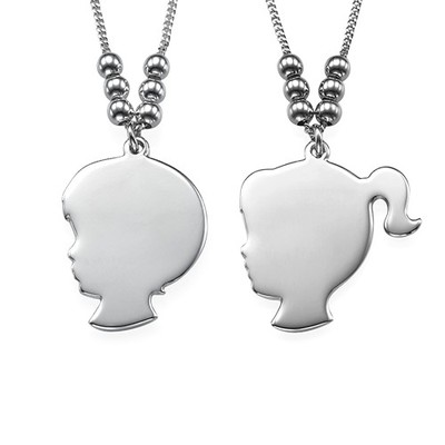 Silhouette Necklace in Sterling Silver - 3
