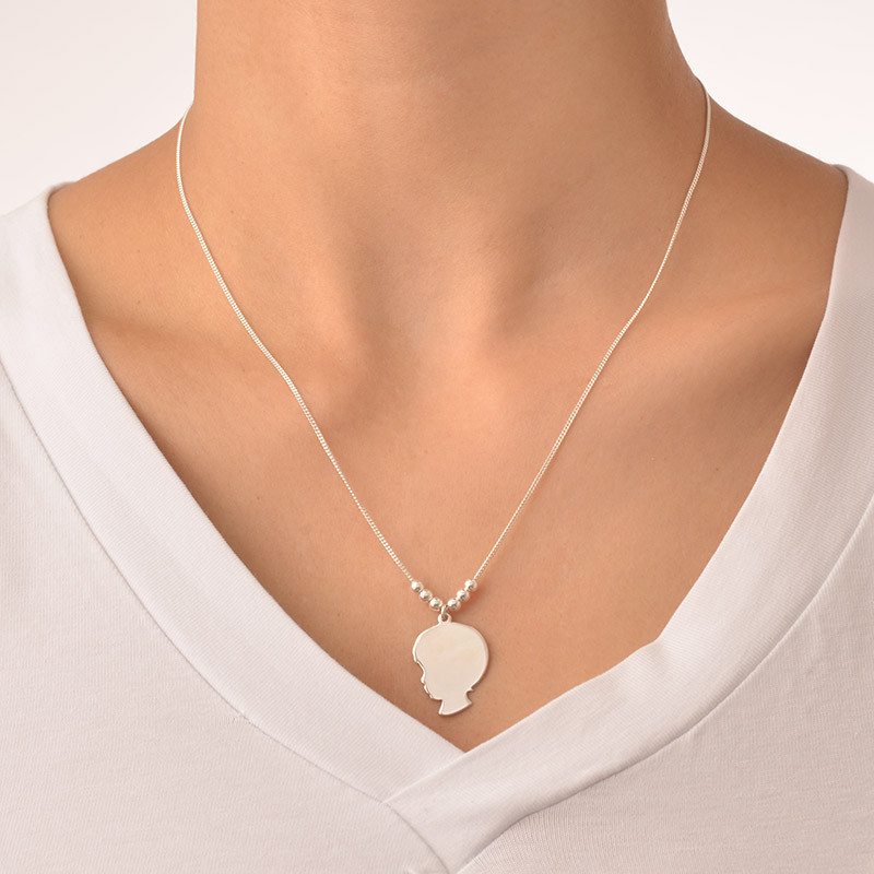 Silhouette Necklace in Sterling Silver - 1 - 2 - 3 - 4