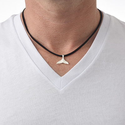 Whale Tail Necklace in Silver - 2