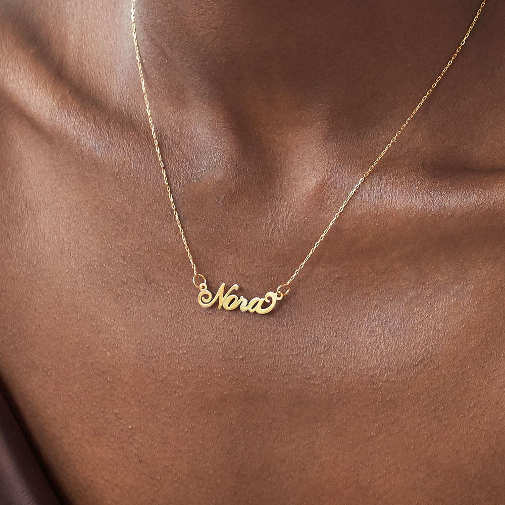 "Small 10ct Yellow Gold ""Carrie"" Style Name Necklace - 2"