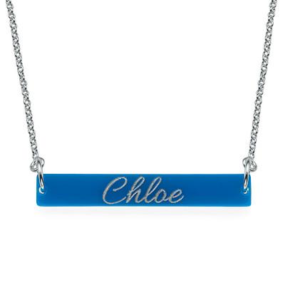 Engraved Acrylic Nameplate Necklace