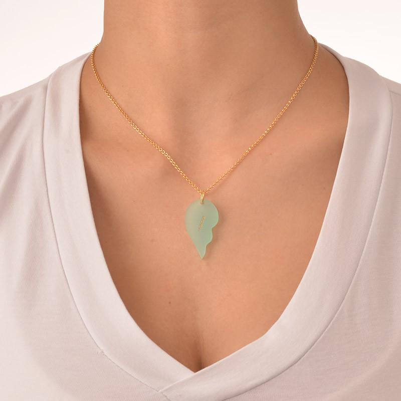 Acrylic Broken Heart Necklaces for couple - 1 - 2