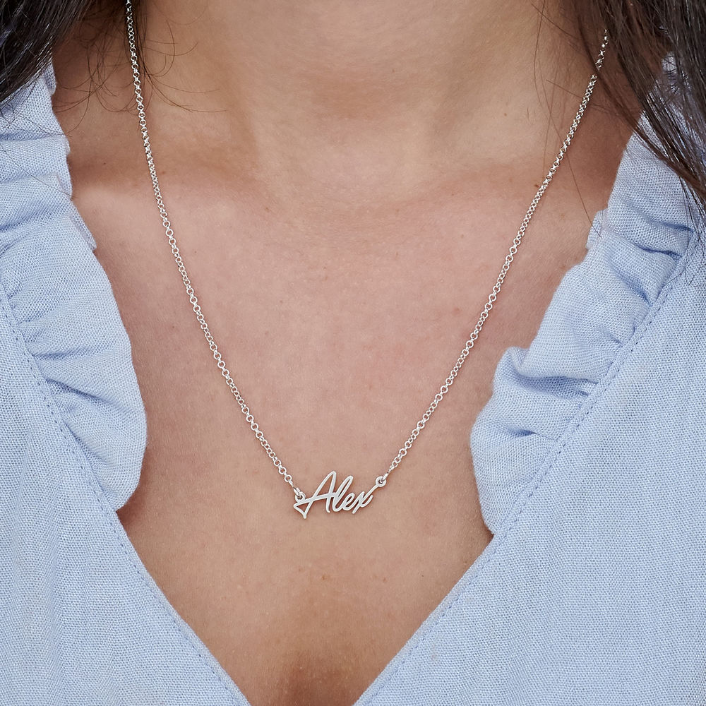 Tiny Silver Name Necklace - 2