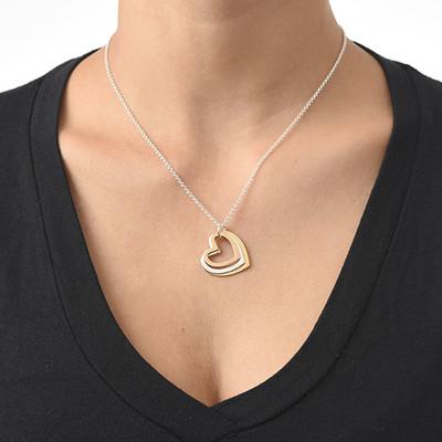 Multi-Tone Triple Heart Necklace - 2