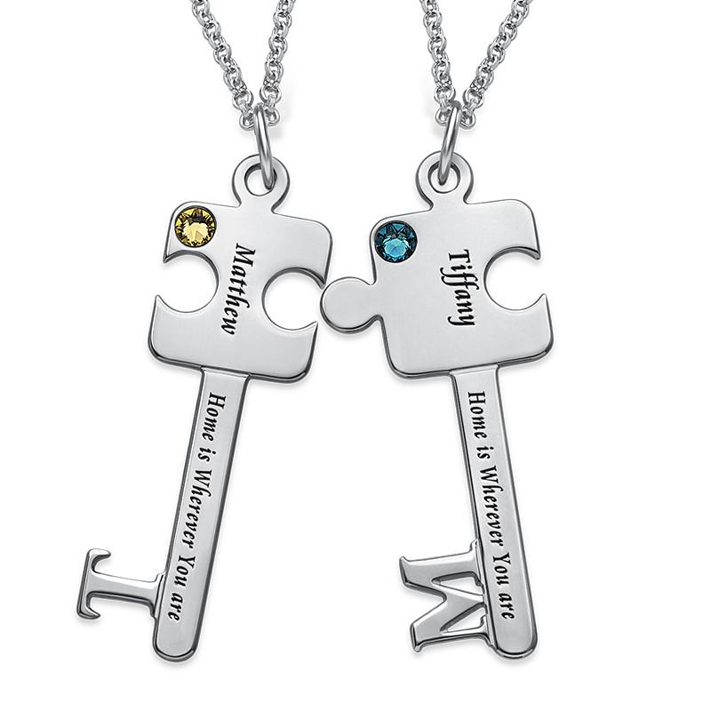 Personalised Puzzle Key Necklace Set - 1