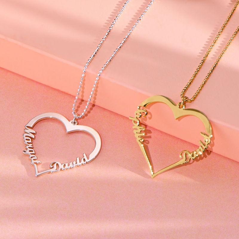 Silver Heart Necklace in 940 Premium Silver  - 1