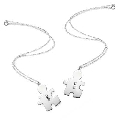 Personalised Silver  Puzzle Necklace - 3