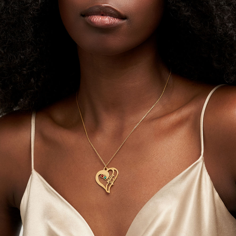 Two Hearts Forever One Necklace in 18ct Gold Vermeil - 2