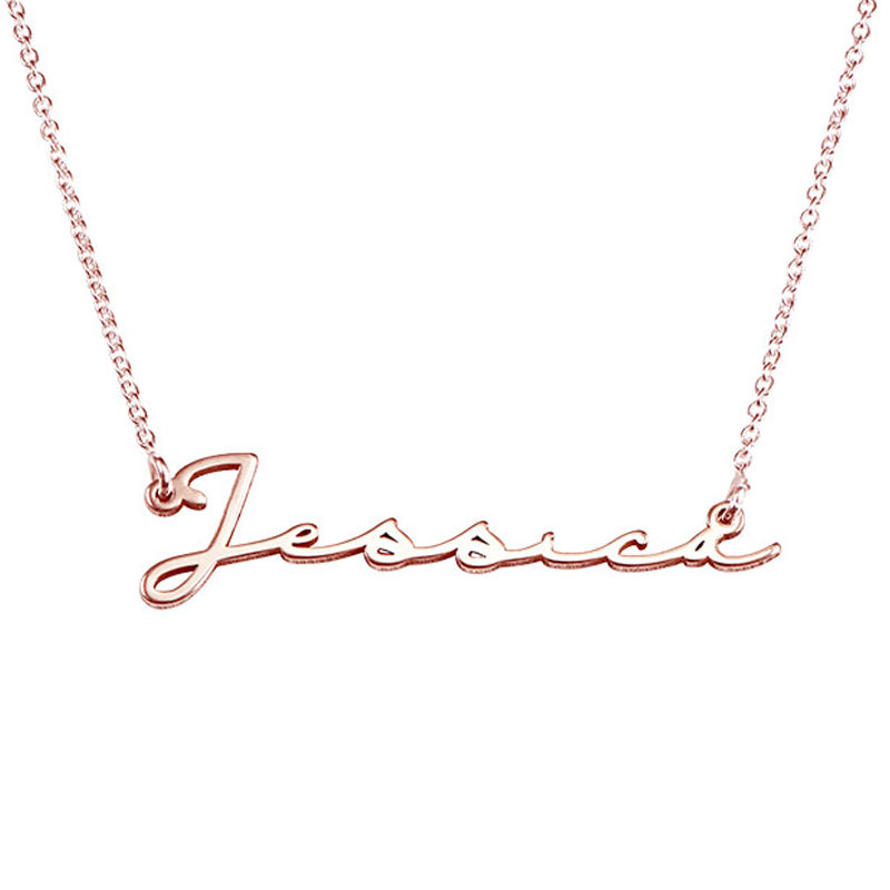 Signature Style Name Necklace - Rose Gold Plated - 1 - 2