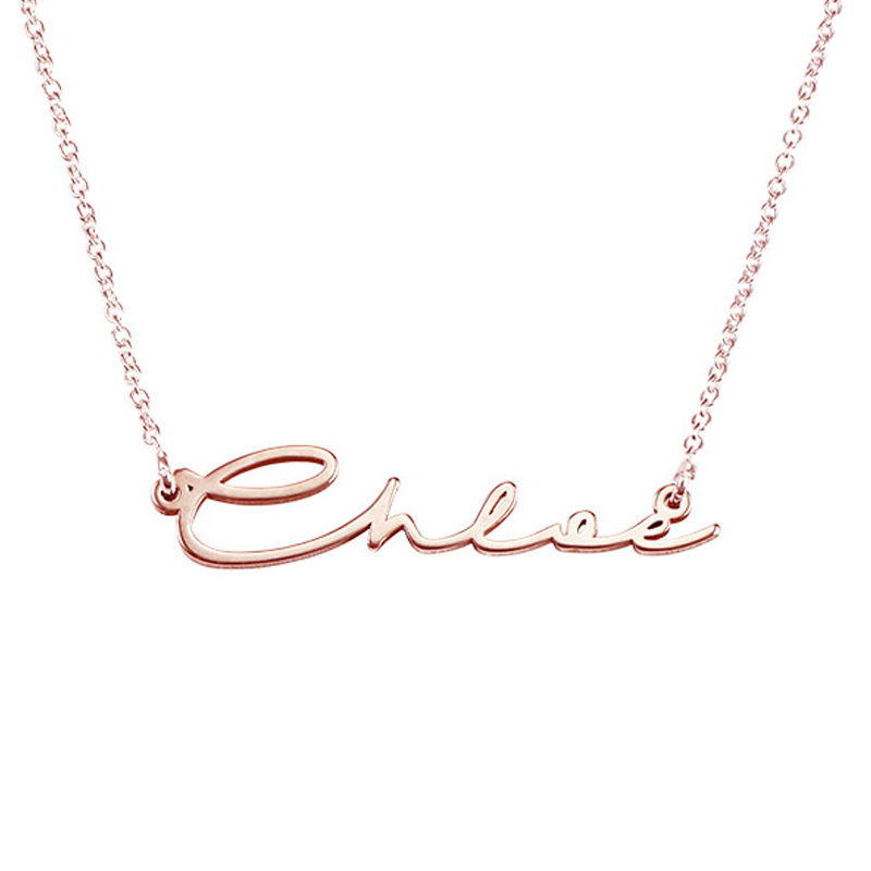 Signature Style Name Necklace - Rose Gold Plated - 1 - 2 - 3
