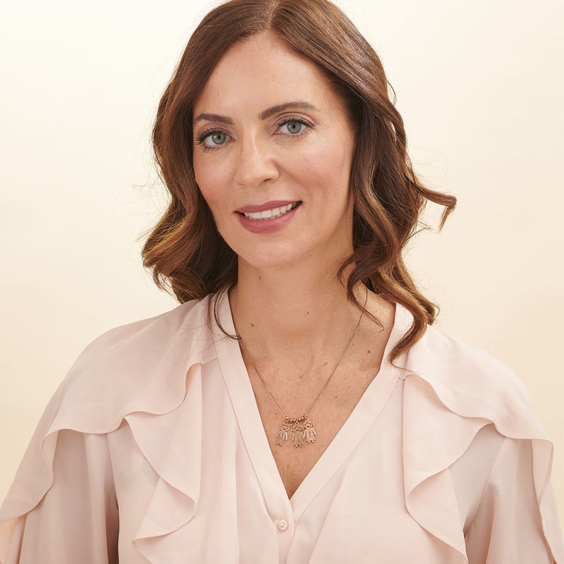 Mummy Necklace with Names in Rose Gold Plating - 6